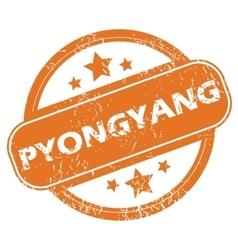 Pyongyang round stamp vector image