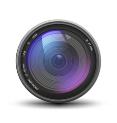 Realistic camera zoom lens vector