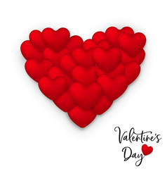red valentines day greeting card of heart balloon vector image