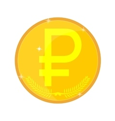 Russian Gold Coin vector image