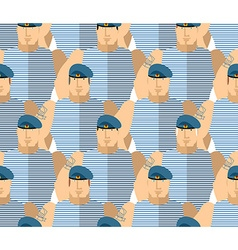 Russian military VDV Strong Soldiers in blue vector image