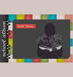 School album magic book vector