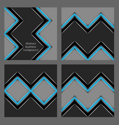 set of abstract business patterns vector image