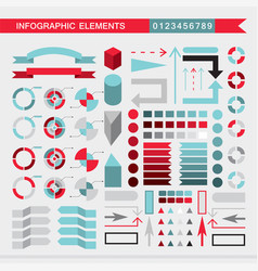 set of infographic elements charts graph diagram vector image