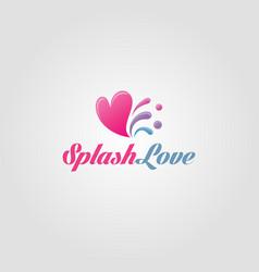 splash love - stylish heart logo vector image