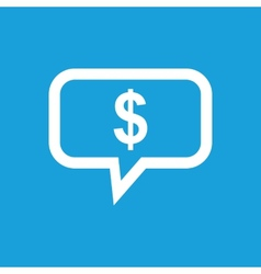 Thinks about money white icon vector image