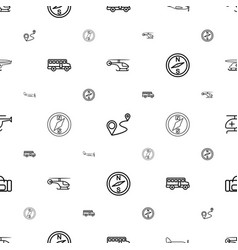 Trip icons pattern seamless white background vector
