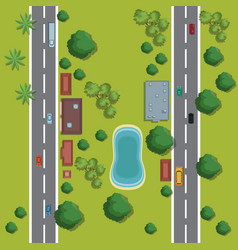 urban top view cartoon vector image