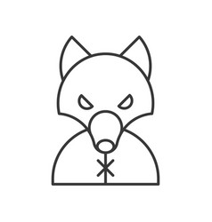 Werewolf halloween related icon outline design vector