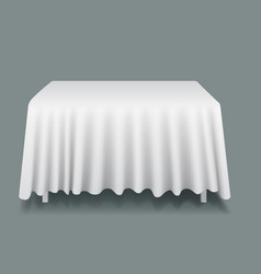 white empty rectangular table with vector image