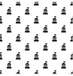 white house pattern seamless vector image