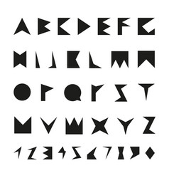 black font with numbers vector image