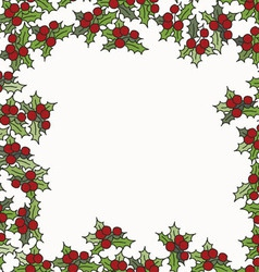 Christmas and New Year background with mistletoe vector image vector image