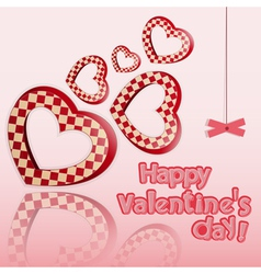 Postcard to the Valentines Day vector image
