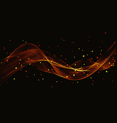 abstract gold luxury wave vector image