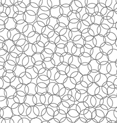 Abstract seamless background made of set of rings vector image