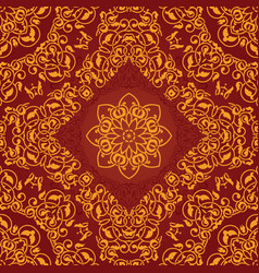 decorative rosette arabesque seamless pattern vector image vector image