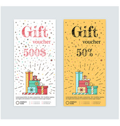 gift certificate with gifts vector image