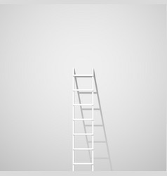 white ladder against wall vector image vector image
