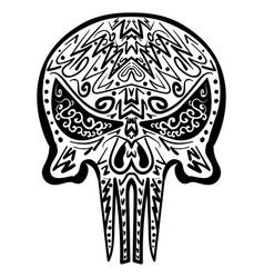 zentangle stylized skull freehand sketch vector image vector image