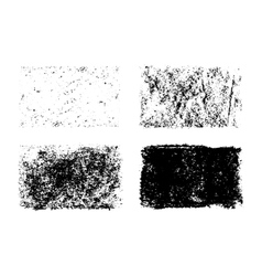 hand drawn collection of grunge textures vector image