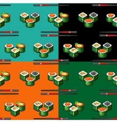 Seamless pattern sushi vector image vector image