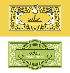 set of packaging design templates vector image