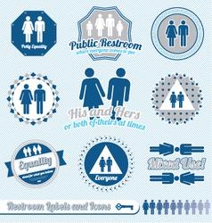 Bathroom Restroom Labels vector image vector image