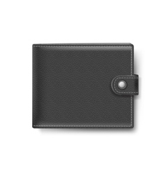 Black Leather Wallet Isolated on White Background vector image