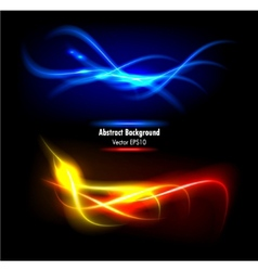color abstract glowing background vector image vector image