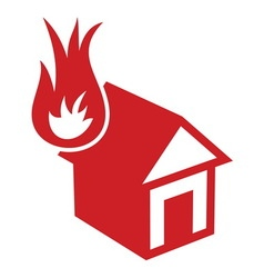Fire in the house1 resize vector image vector image