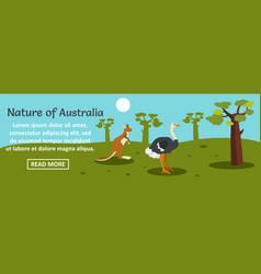 nature of australia banner horizontal concept vector image