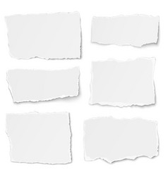 set of paper different shapes tears isolated vector image vector image