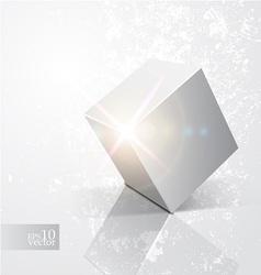 Shiny cube vector image vector image