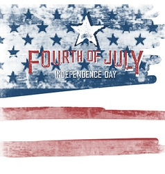 4th july american independence day poster vector image