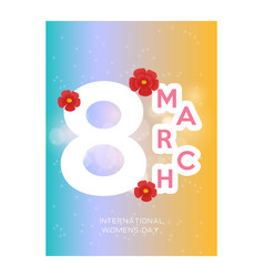 8 march womens day sign icon holiday symbol icon vector image