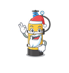 a picture santa oxygen cylinder mascot picture vector image