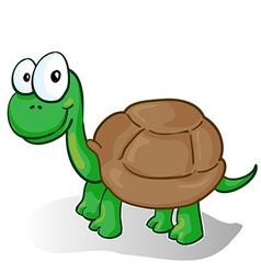 a smiling cartoon turtle vector image