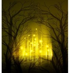 Abstract dramatic night tree vector