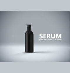 anti aging serum ads poster template vector image