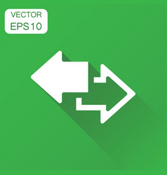 Arrow left and right icon business concept vector