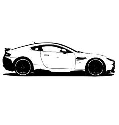 Aston martin v8 vector