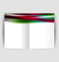 Blurred wave line business annual report abstract vector