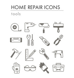 building construction and home repair tools icons vector image