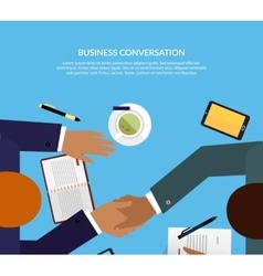 Business Conversation Design Color Flat vector image