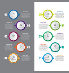 business timeline workflow infographics vector image