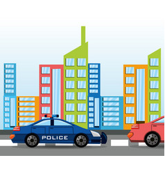 cars transiting for the city vector image