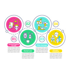 Child wellness care infographic template vector