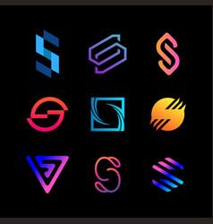 Collection premium logo letter s gradient color vector