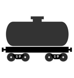 Colored railway tank vector